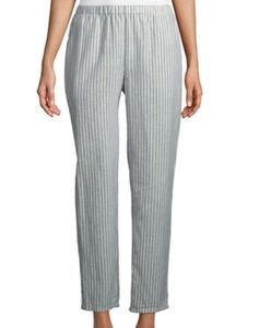 Eileen Fisher sz S stripe wide leg pants